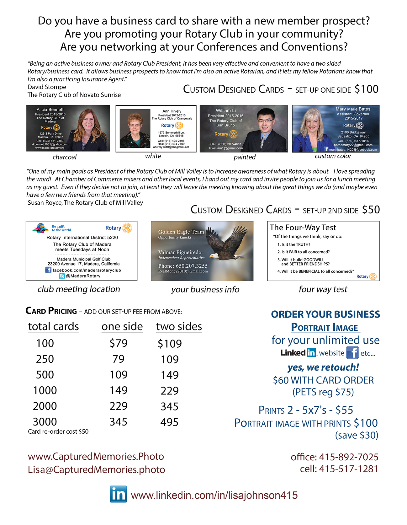 Order Rotary/Business Cards | Corporate and Business Headshots